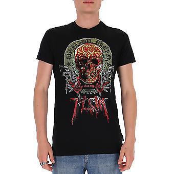 Philipp Plein P20cmtk4467pjy002n02 Heren's Zwart Katoen T-shirt