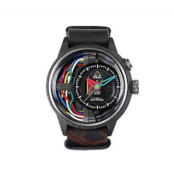 The Electricianz ZZ-A1A-03 The Carbon Z Black Strap Wristwatch