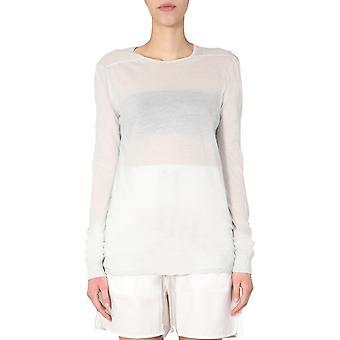 Rick Owens Ro20s1255uc61 Women's White Cotton Sweater