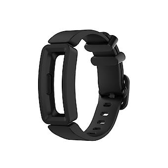 Replacement Silicone Band Strap Bracelet for Fitbit Ace 2/Inspire/Inspire HR[Black]