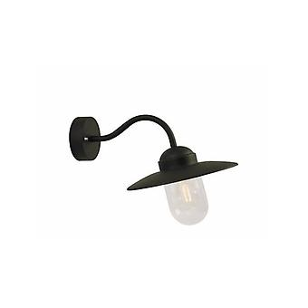 Luxe Black Outdoor Wall Light 27 Cm