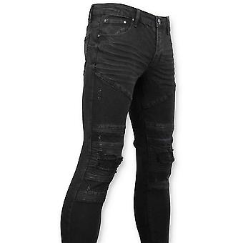 Biker Jeans Ripped - Black