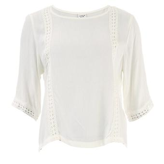 Women's Jacqueline de Yong Sihaka Lace Trim Top in White