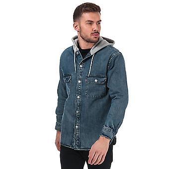 Men's Levis Hooded Jackson Overshirt in blu