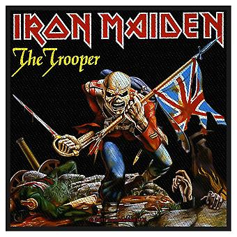 Iron Maiden Patch The Trooper Band Logo Official New Black Woven (10cm x 10cm)