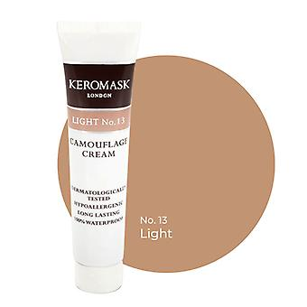 Keromask Full Cover Concealer | 24 Shades | Covers Vitiligo, Rosacea, Scars, Tattoos | Waterproof Camouflage Makeup | Light No 13 | 15ml