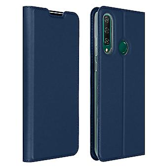 Protective Case Huawei Y6p Cardholder Function Video Holder Dux Ducis Night Blue