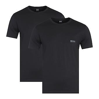 BOSS Bodywear Two-Pack Regular Fit RN Black Crew Neck T-Shirts