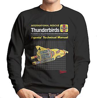 Thunderbirds Agenter Teknisk Manual Thunderbird 4 Men's Sweatshirt