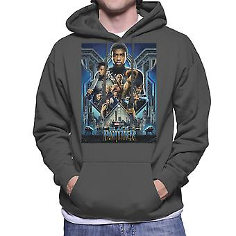 Marvel Black Panther Film Poster Herren Sweatshirt mit Kapuze