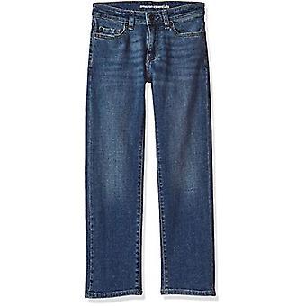 Essentials Big Boys' Straight-Fit Jeans, Everest Medium Wash,14