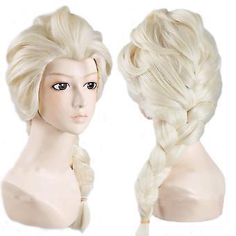 女性冷凍コスプレエルザアンナファンシードレスヘアピースウィッグ