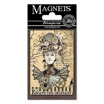 Stamperia Voyages Fantastiques Frau 8x5.5cm Magnet