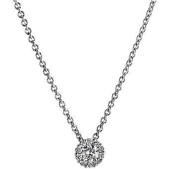 Diamant Collier Collier-14K 585/-witgoud-0,22 ct.