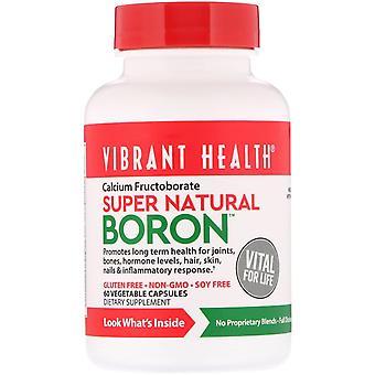 Vibrant Health, Super Natural Boron, 60 Vegetable Capsules