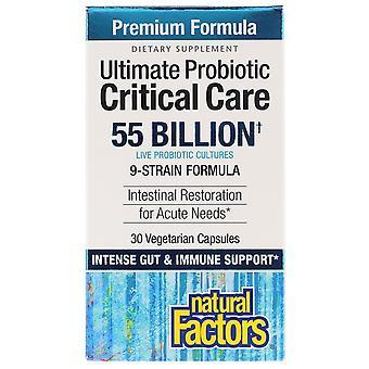Natürliche Faktoren, Ultimative probiotische, kritische Pflege, 55 Milliarden KBE, 30 Vegetaria
