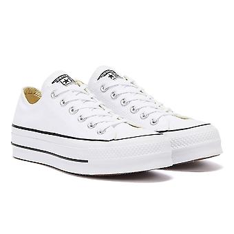 Converse Chuck Taylor All Star elevador Womens White Ox formadores