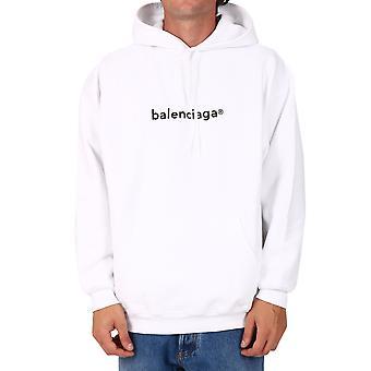 Balenciaga 570811tiv559040 Men's White Cotton Sweatshirt