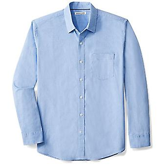 Essentials Men's Regular-Fit Langarm Solide Casual Poplin Shirt, Fr...