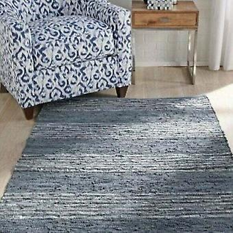 Spura Home Indian Contemporary Style Leather Gray Handmade Area Rug
