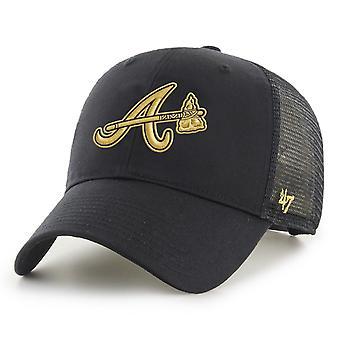 47 Brand Trucker Cap - BRANSON Metallic Atlanta Braves