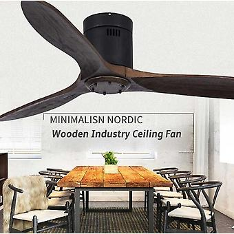 Wood Ceiling Fan Light With Remote Control For Living Room, Bedroom