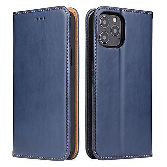 iPhone 12 mini Kotelo nahka flip lompakko Folio kansi jalustan sininen