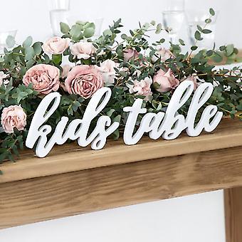 Barnebord Bryllupsskilt   hvit tre frittstående fest dekorasjon