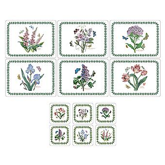 Pimpernel Botanic Garden Placemats & Coasters, Set of 6, New Designs