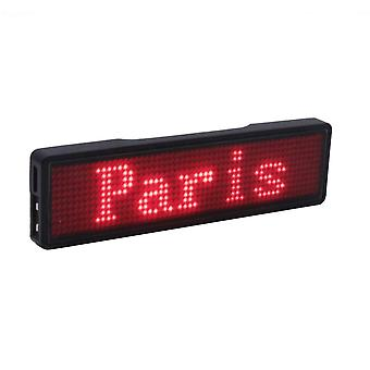 Oplaadbare Bluetooth Led-badge(11*55 breed )