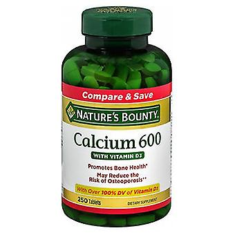 Nature's Bounty Calcium 600 With Vitamin D3, 250 tabs