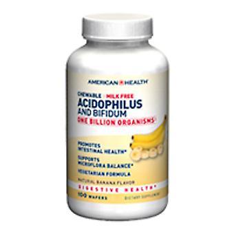 American Health Probiotic Acidophilus with Bifidus, Chewable Banana 100 Tabs