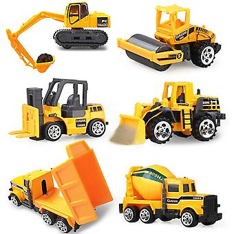 Mini Diecast Alloy Car 2 In1 Model Engineering Vehicles Carrier Truck With