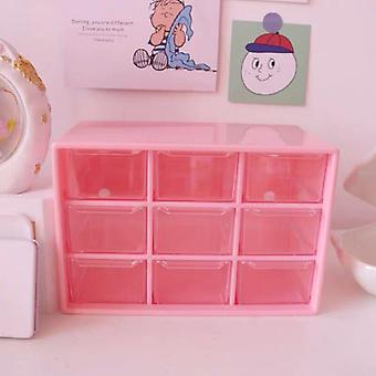 Multifunctional 9 Grid Desk Organizer, Box, Make-up Storage Case