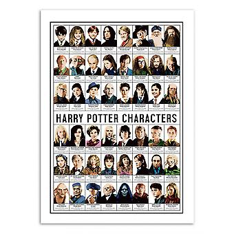 Art-Poster - Harry Potter Characters - Olivier Bourdereau