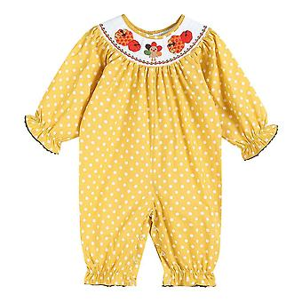 Mustard Smocked Bubble Playsuit
