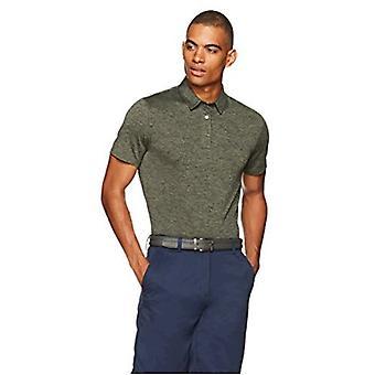 أساسيات الرجال & apos;ق التكنولوجيا تمتد بولو قميص, رمادي داكن هيذر, متوسطة