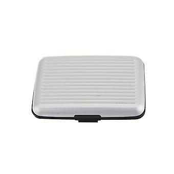 Caja de la tarjeta con bloqueo de señal RFID Aluminium Silver