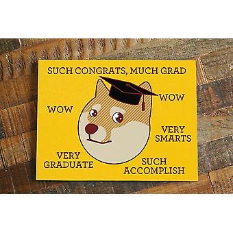 Funny Doge Meme Graduation Card Much Grad