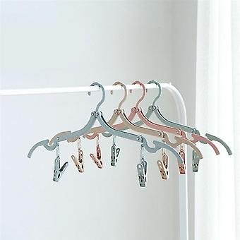 Portable Non Slip Folding Drying Clothes Hangers Racks For Business Trip