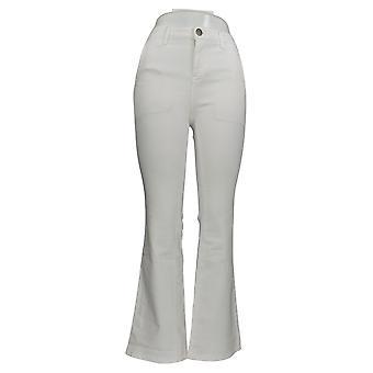 BROOKE SHIELDS Women's Jeans Timeless Regular Flare White A351363