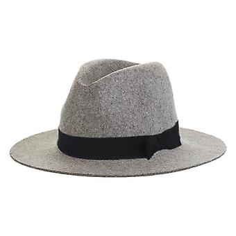 Chapeau 100% Wool Wide Brim Floppy Felt Trilby Bowknot Fedora Hat Chapeau hiver/automne