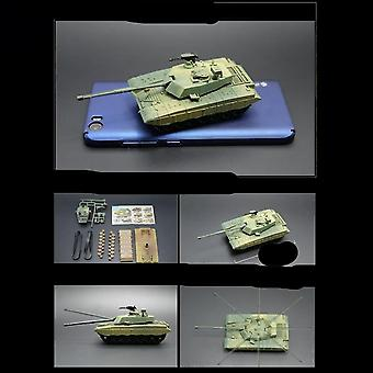 Diy Assembled, Action Figure- Mini Tank Model