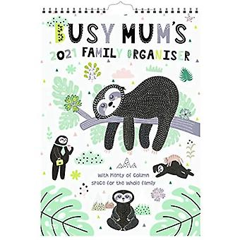 Busy MumS Family Organiser Sloths 2021 A3 Planner Calendar by Browntrout