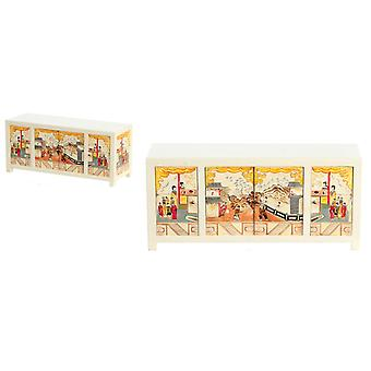 Dolls House Chinese Hand Painted White Cabinet Jbm Living Room Furniture