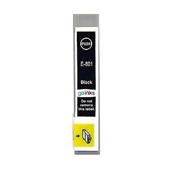 1 svart blekkpatron for å erstatte Epson T0801 Kompatibel/ikke-OEM fra Go-blekk