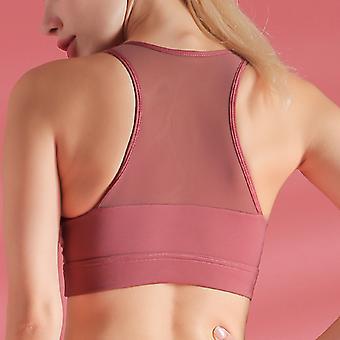 Breathable mesh yoga bra Q64
