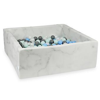 XXL Ball Pit Pool - Marmor #7 + taske (400-600 bolde)