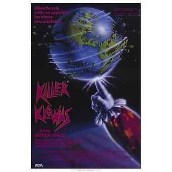 Tappaja Klowns ulkoavaruuden elokuvan juliste tulosta (27 x 40)