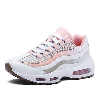 Mujeres Air Cushion Sports Zapatos de Running 0580 Blanco Rosa